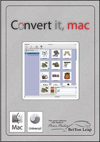 Mac Embroidery a personal favorite software to let you convert designs quickly on the Mac :)