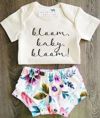 Organic Baby Girl Flower Shorties & Organic Onesie® Bundle – Urban Baby Co.