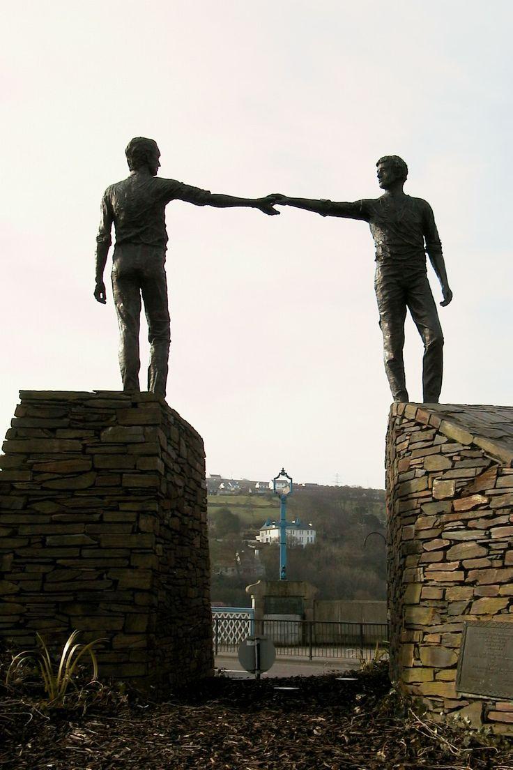 'hands across the divide', Derry, Northern Ireland.