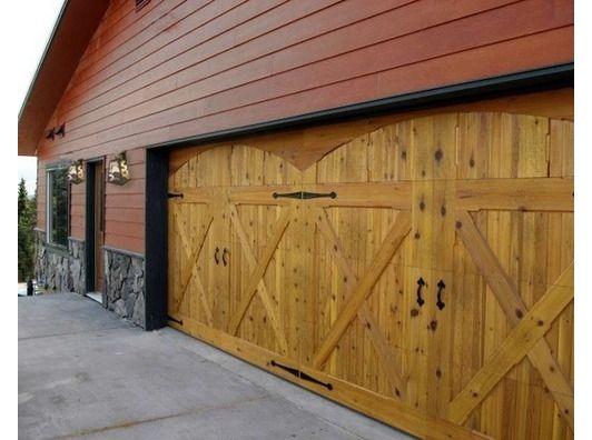 71 best garage doors images on pinterest garage door for Garage fence