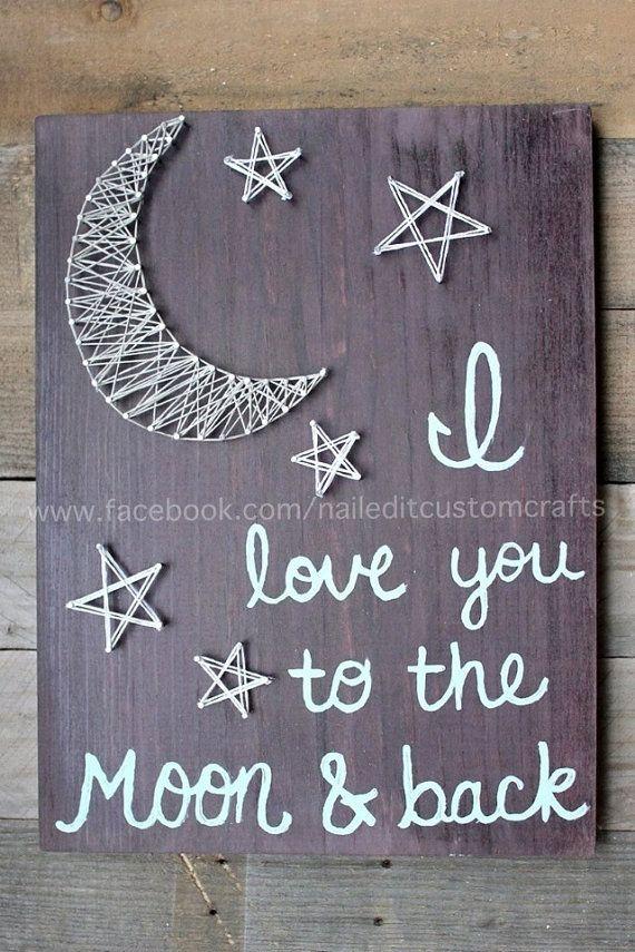 Te amo a la luna y volver mejor venta de por NailedItCustomCrafts