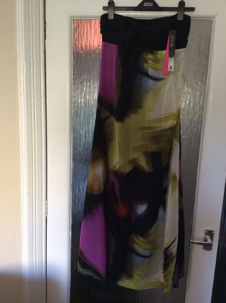 M&S LIMITED COLLECTION 100% SILK Ladies Long dress UK10 M BNWT Special occasions