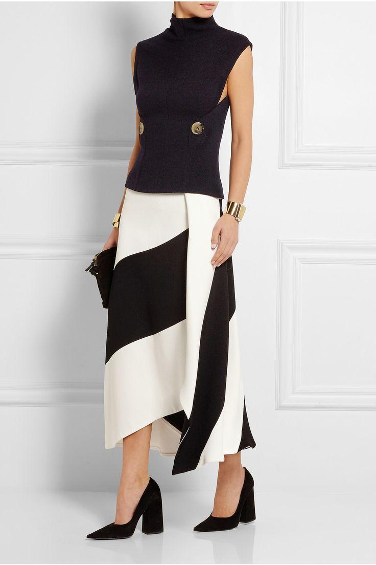 Victoria Beckham|Stretch wool-blend turtleneck top|NET-A-PORTER.COM