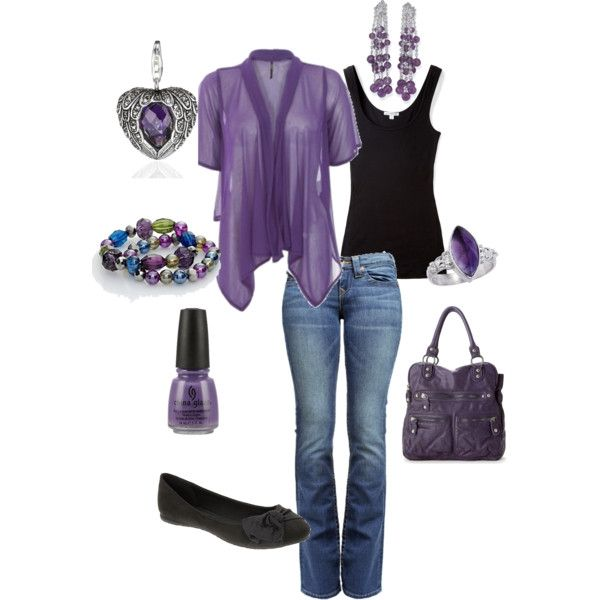 every day purple polyvore-and-more