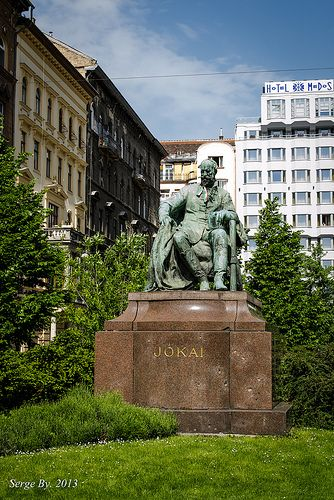 Statue of Jókai Mór (great Hungarian novelist classic) - Budapest, Hungary