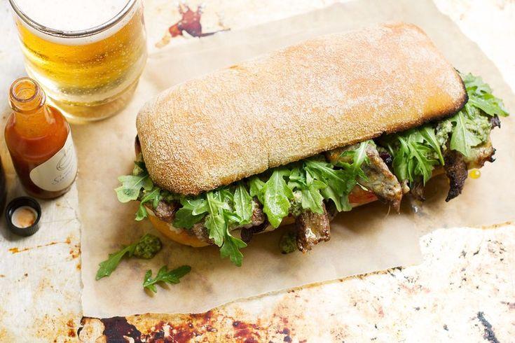 @saltandwind Recipe: Balsamic Steak Sandwich with Italian Salsa Verde | http://saltandwind.com