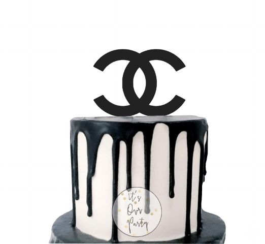 Coco chanel party, louis vuitton party, designer party, logo party, coco chanel logo, coco chanel cake, coco chanel cupcake toppers, monochrome party, materialistic party, girls party ideas , 30th birthday party ideas, black and white party