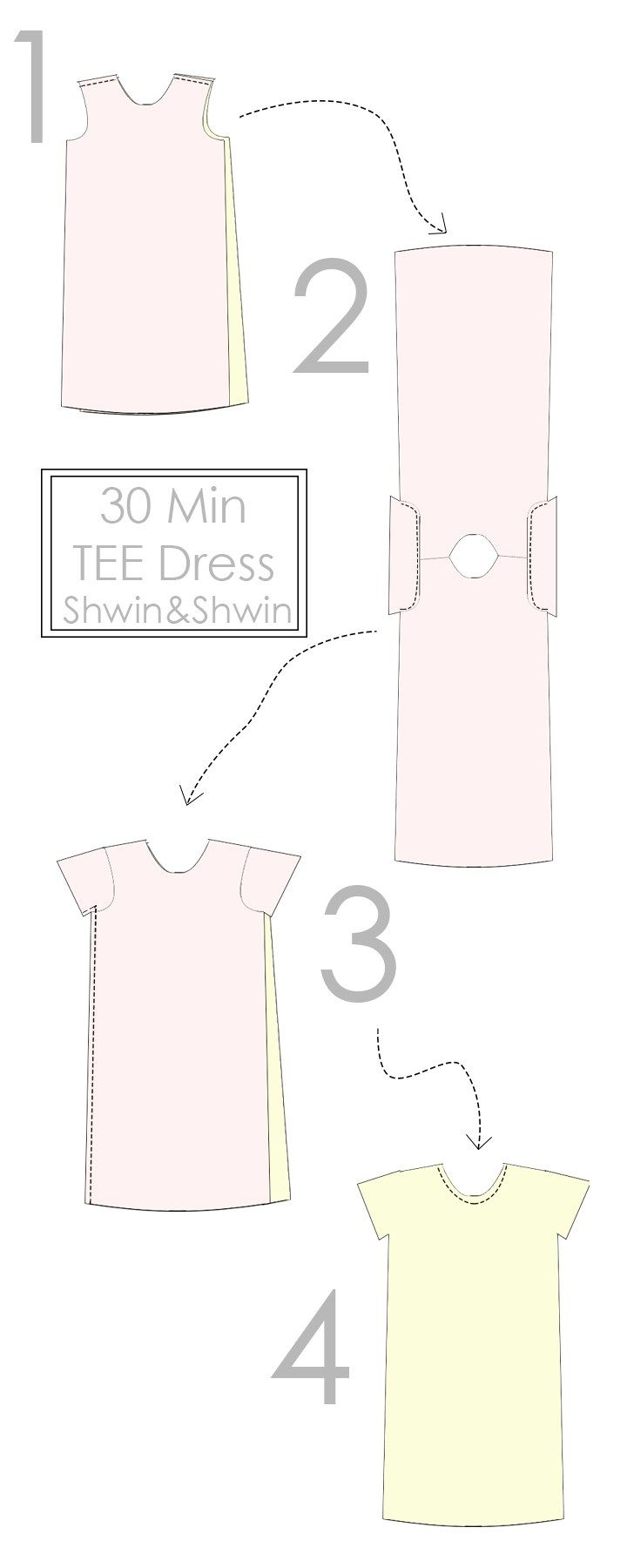 30 Min Tee Shirt Dress || Free PDF Pattern || Shwin&Shwin