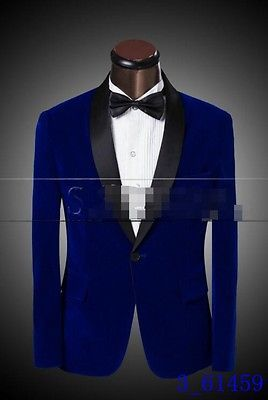 New Mens Dress Suits One Button groom Slim Fit Blazers Formal Jacket with Pants