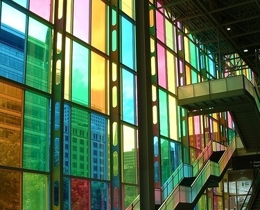 stained glass window film...love.