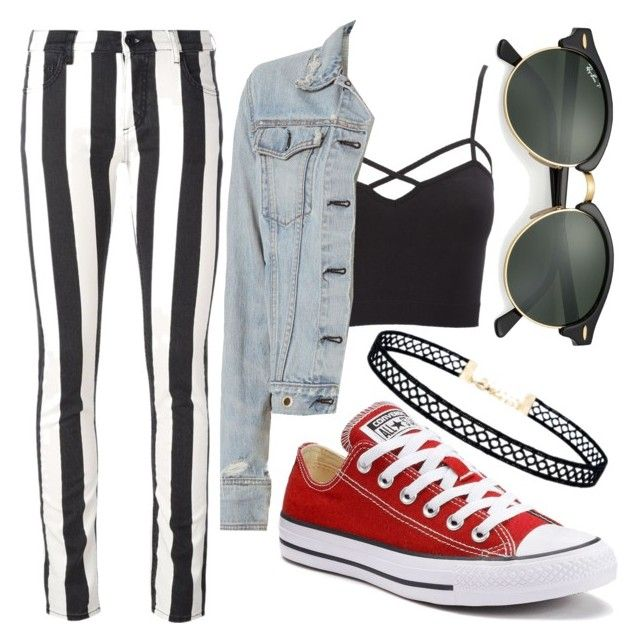 """""""Untitled #017"""" by liaperezmorales on Polyvore featuring Off-White, Converse, Charlotte Russe, rag & bone, Ray-Ban, LULUS and plus size clothing"""