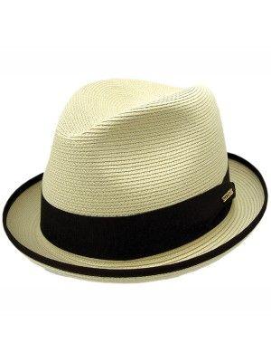 Stetson Latte - Straw Fedora Hat