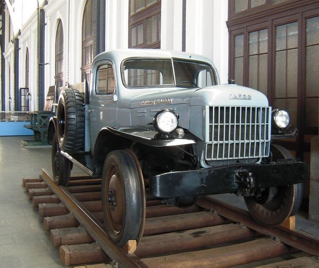 ☆MG☆a Fargo (not Dodge) power wagon, solid rubber tires with steel plates backing,  Spain