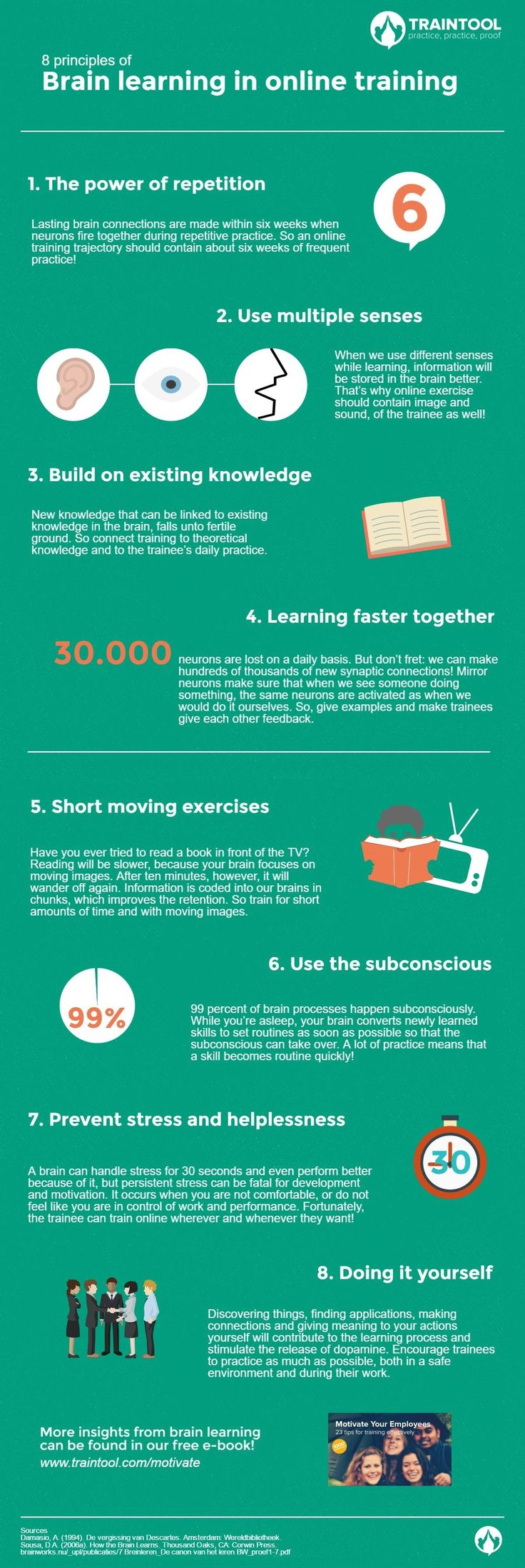 Best 25 training online ideas on pinterest online photography 8 principles of brain learning in online training infographic httpelearninginfographics xflitez Images