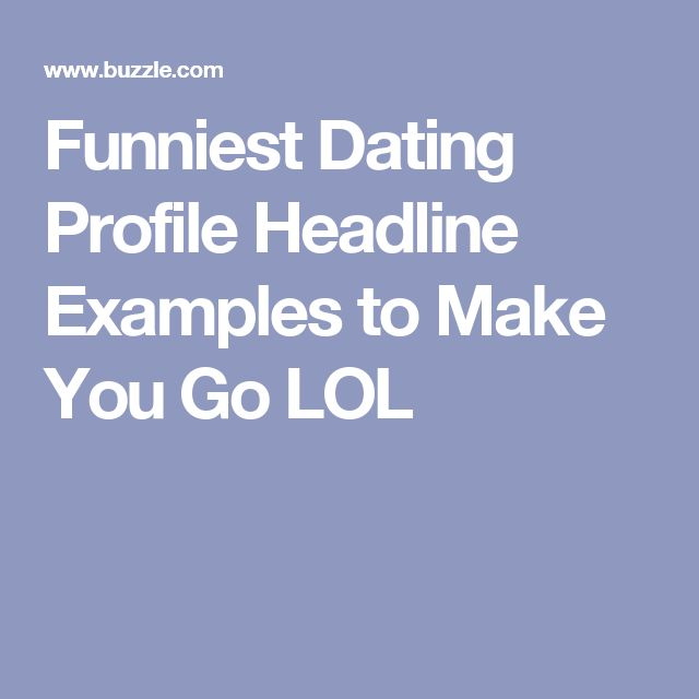 dating profile tagline funny