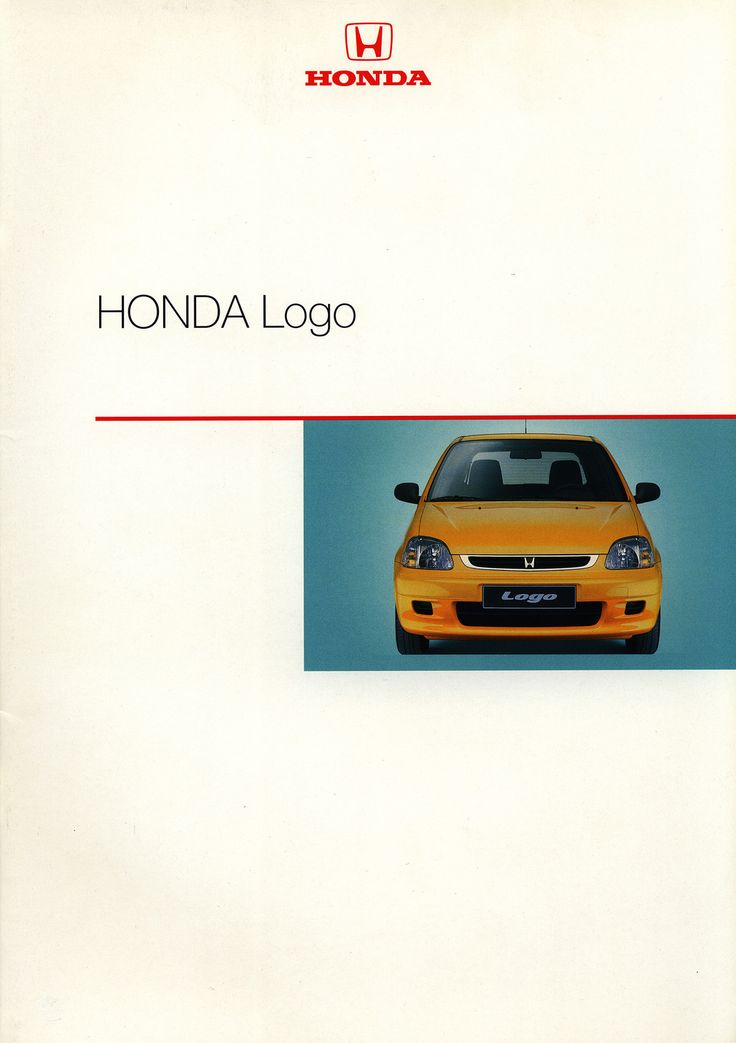 https://flic.kr/p/GjTXvS | Honda Logo; 2000_1 | front cover car brochure by worldtravellib World Travel library