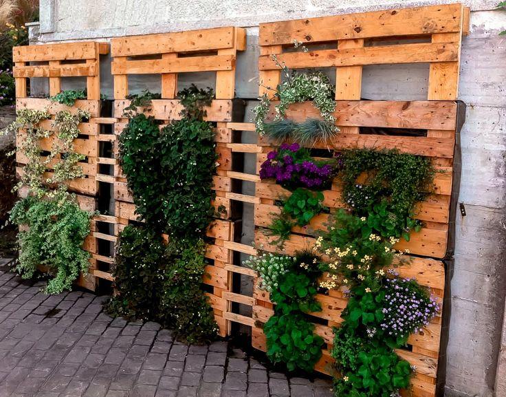 pared jardinera palet buscar con google