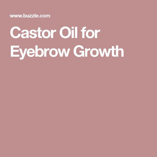 Castor Oil for Eyebrow Growth