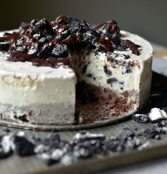 Tarta de helado de oreo y chocolate