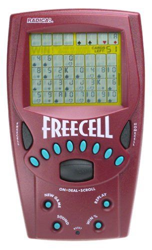 Kids' Handheld Games - Handheld FreeCell Solitaire Game  8019 * You can find more details by visiting the image link.