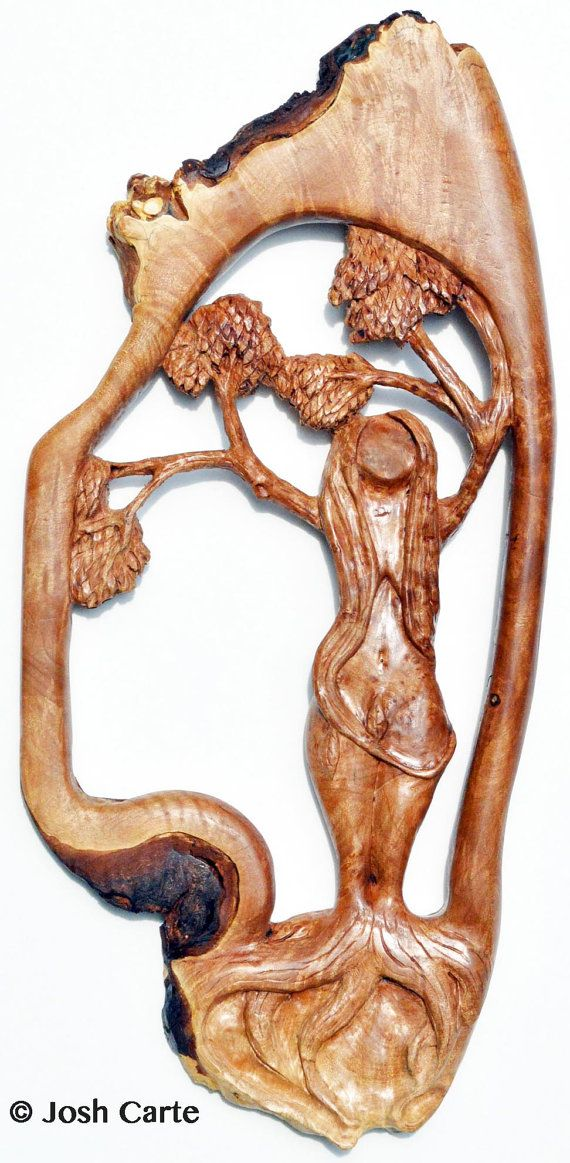 Wood Sculpture Art, Woodcarving, Child birth Gift
