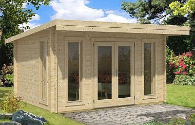 Barbados 3 Twin Wall log cabin