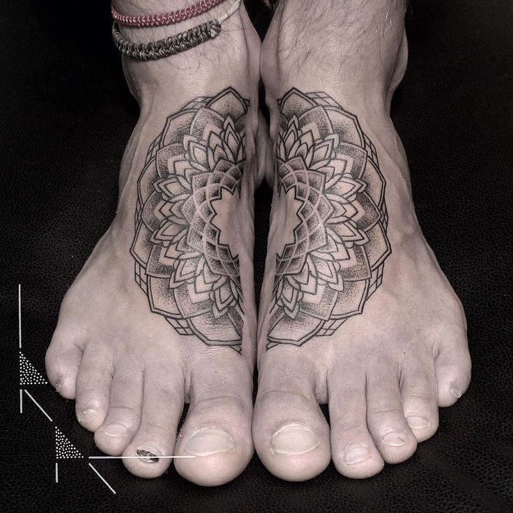 Mandala from today thanks Marc! #rachainsworth #tattoo #Berlin #sticksandstones #neukölln #mandala #footmandala