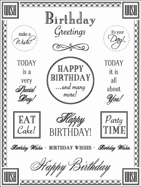 birthday sentiments to print - Google Search