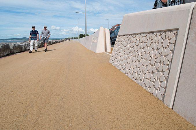 Morecambe Promenade Morecambe Uk Atkins Watefront Concrete Seawall Modern Contemporary Coastal Pa Landscape Architecture Landscape Design Morecambe