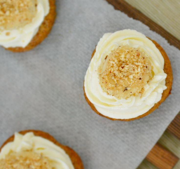 Postres Saludables | CupCake de Banano sin azúcar, preparados con harina de avena | http://www.postressaludables.com