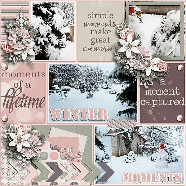 Winter moments - Scrapbook.com