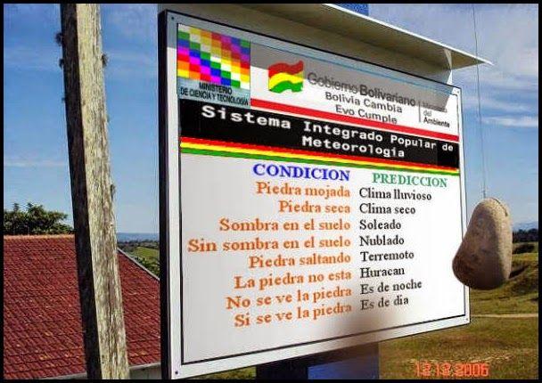 El Mundo De Los Borrachos [Humor] by Nelson Pereira: El Mejor Sistema Meteorologico Del Mundo Mundial.