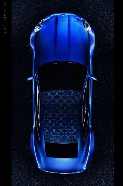 ♂ Blue car Fisker Karma top view from http://www.carws.net/fisker-karma-top-view/