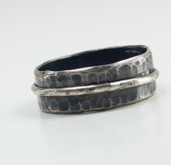 Men Wedding Band Men Wedding Ring Sterling Silver by UrbanJule, $110.00 Handmade men's ring, handmade men's jewelry