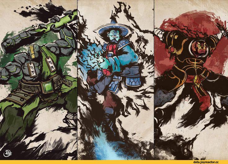 #Dota2 Dota,фэндомы,ChaosRaymond,Dota Art,Yurnero the Juggernaut,Kaolin the Earth Spirit,Xin the Ember Spirit,Raijin Thunderkeg the Storm Spirit,песочница