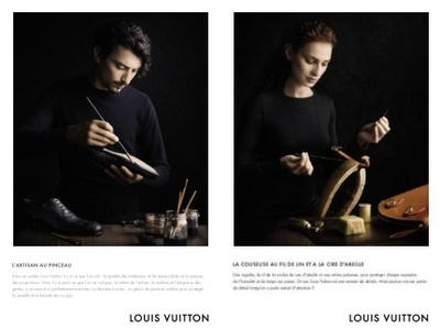 Louis Vuitton Fashion Campaign, which was very controversial and branded misleading because LV no longer makes (the vast majority of) its bags in this way.