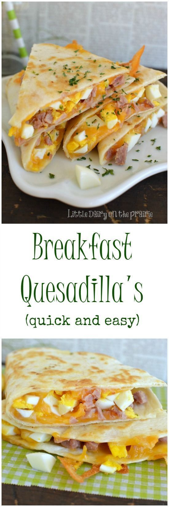 Furniture Designs: Ham and Cheese Breakfast Quesadillas