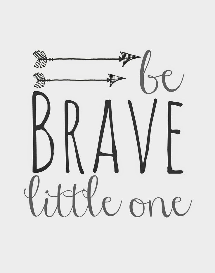 Be Brave Little One and Arrows Nursery Printables
