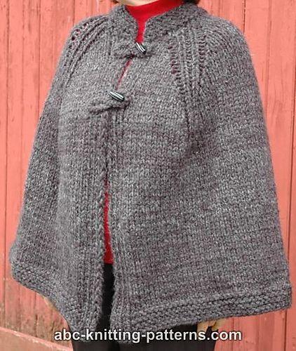 Wool Cape Knitting Pattern : 17 Best ideas about Knitted Cape on Pinterest Knitted poncho, Knit poncho a...