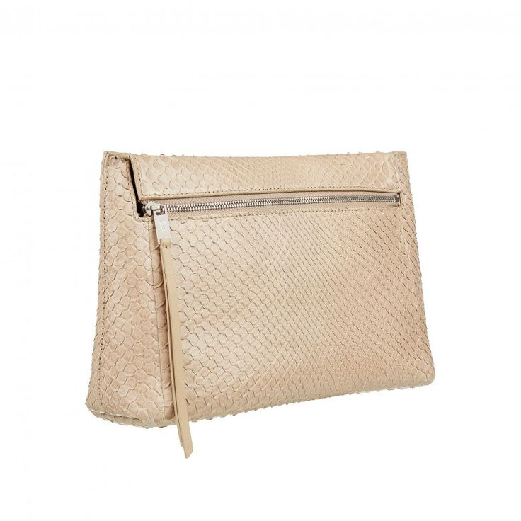 New in  Nude clutch bag i... fancy adding it to your collection click here: http://timpanys.com/products/nude-clutch-bag-in-snakeskin-bruton-pouch-by-william-son?utm_campaign=social_autopilot&utm_source=pin&utm_medium=pin