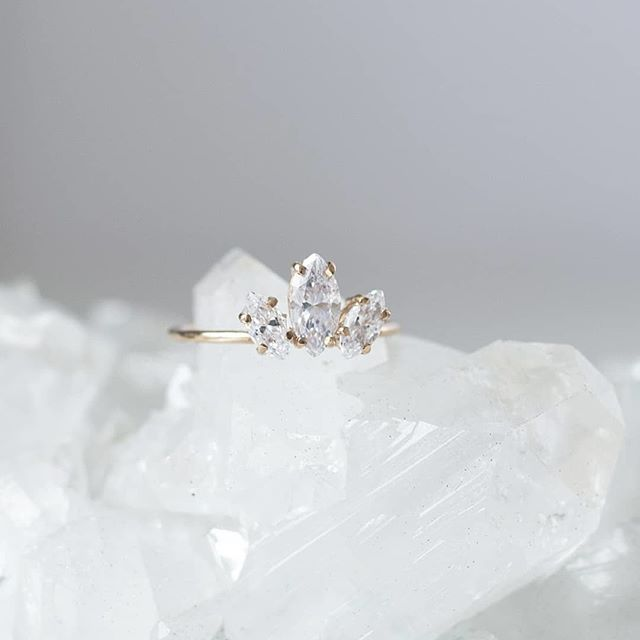 R I N G S The Marquise Sun Ring With Cubic Zirconia By