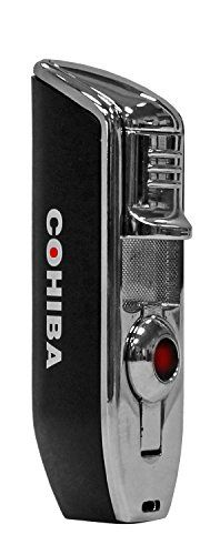 Cohiba Red Dot Slimline Triple Torch Cigar Lighter w Punch Cutter -- Want to know more, click on the image.