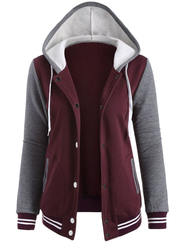 SHARE & Get it FREE   Fleeced Baseball Hoodie JacketFor Fashion Lovers only:80,000+ Items • New Arrivals Daily • Affordable Casual to Chic for Every Occasion Join Sammydress: Get YOUR $50 NOW!