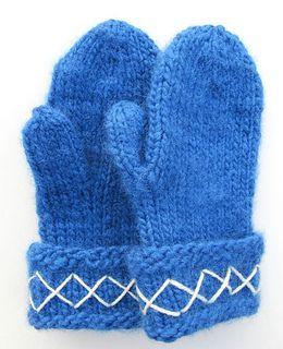Lovikka mittens in blue/Blå Lovikkavantar pattern by Ann Linderhjelm