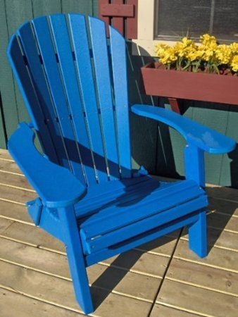 Amazon.com: PHAT TOMMY Recycled Poly Deluxe Folding Adirondack Chair Eco  Friendly Espresso: