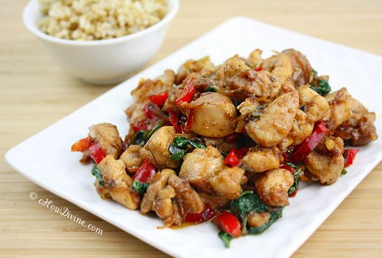 Thai Basil Chicken 2Chicken Recipe, Thai Basil Chicken, Gluten Free Recipe, Brown Sugar, Food, Takeout Version, Eating, Maine Courses, 10 Minute