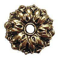 "Funtional 1"" Gold Antique Flower Rosette w/ screw - Antique Mirror Glass"