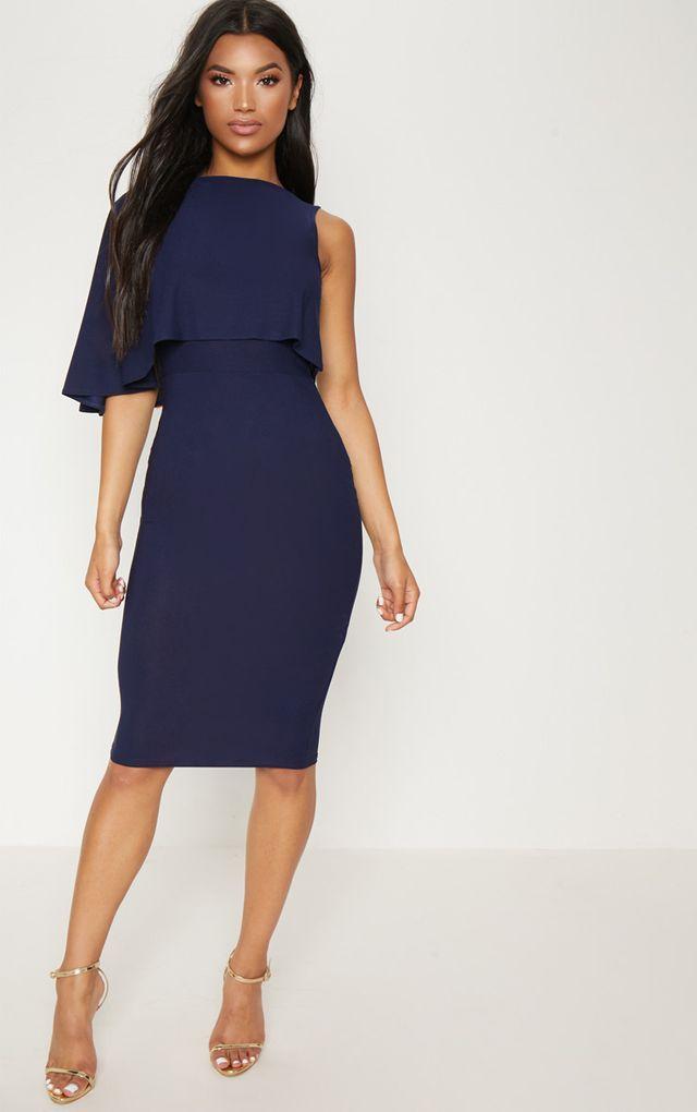 robe demi longue bleu