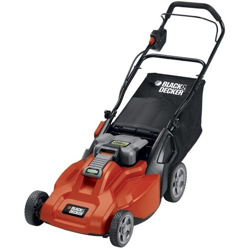 Black & Decker CM1936 19-Inch 36-Volt Cordless Electric Lawn Mower With Removable Battery | Best Buy Garden Tools Store