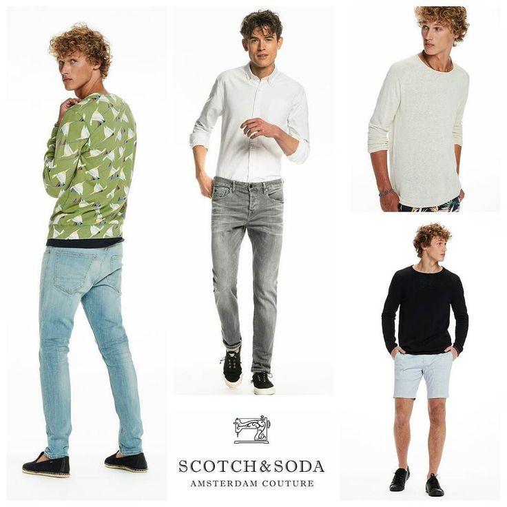 Scotch & Soda altijd een knappe collectie van Nederlandse bodem.Wat inspiratie voor jullie mannen. #scotchandsoda #men #amsterdamsblauw #jeans #denim #ralston #skim #sweats #shorts #shirts #t-shirts #fijnweekendallemaal